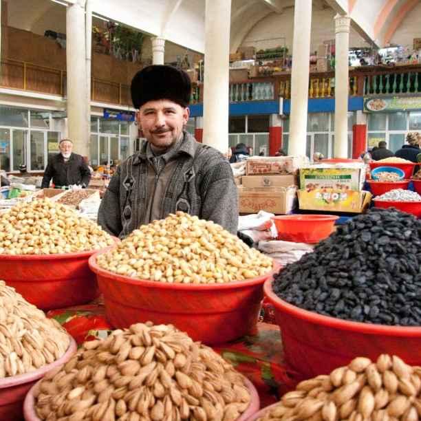 Springlevende handelsgeest in Tadzjikistan
