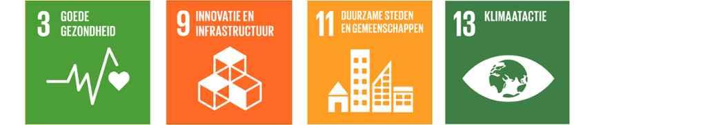 SDG 3, 9, 11 en 13